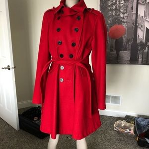 Guess Los Angeles red coat